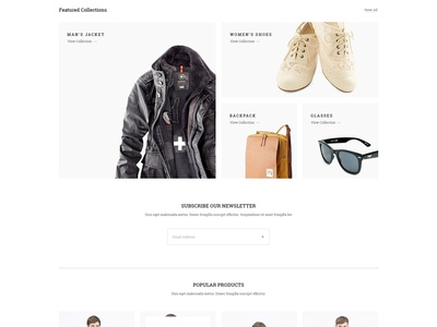 [ Freebie ] Pillow - Minimal eCommerce PSD Template web design download free wordpress ecommerce woocommerce k3nnyart woorockets ux ui responsive