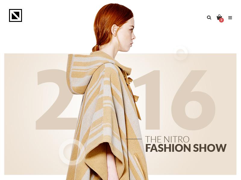 Nitro - Fashion demo 05 homepage theme nitro wordpress shoping woocommerce ecommerce woorockets