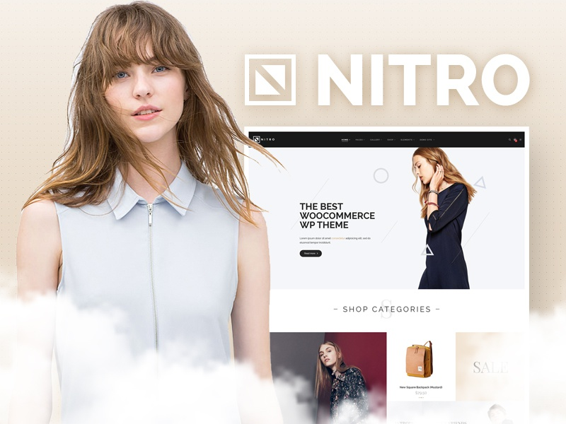 "Let's welcome the charming ""eCommerce"" girl... Nitro. ecommerce design. web design. ecommerce template category layout psd ecommerce website ecommerce"