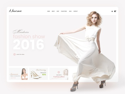 Nitrowp fashion Homepage design