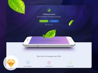 One Page App Landing page - Free giveaway