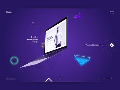 Portfolio Page fullscreen parallax creative portfolio branding agency