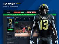 Sport news Homepage from Shine - Multipurpose Joomla template