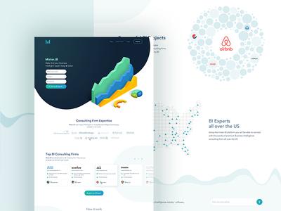 Mister.BI Homepage chart wave homepage business intelligence trending uxui data visualization sketch landing dashboard
