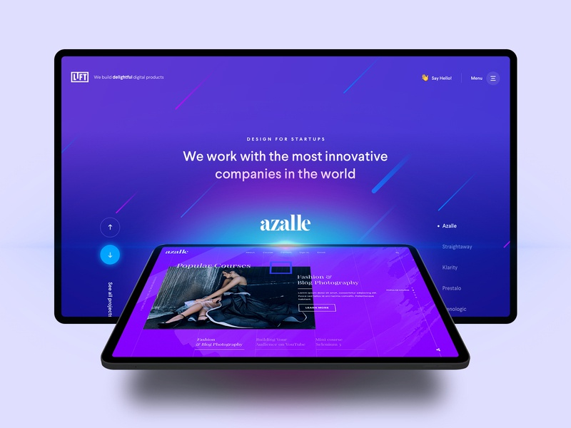 Hero section for Creative Agency slider projects sketchapp visual design landing page homepage creative agency creative ui design hero section