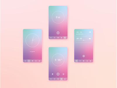 Time to ... clock alarm ui design ux design mobile app ui ux