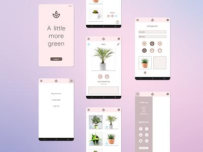 A little more green mobile app design design mobile app app mobile uidesign uxdesign ui uxui ux