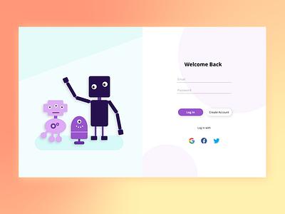 Robot web uidesign uxdesign uxui ui ux webdesign