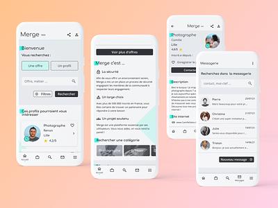 Responsive Freelance Interface design mobile app ux ui
