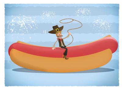 Hot Dog Cowboy