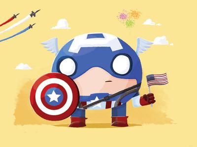 Chubby Captain America