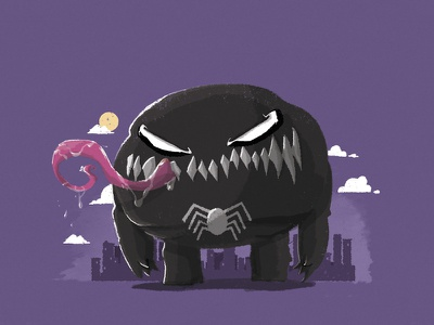Chubby Venom venom comicbooks superhero marvel spiderman symbiote tounge
