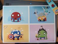 Chubby Heroes Print
