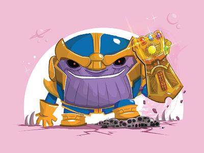 Chubby Thanos glove illustration marvel infinity gauntlet war infinity stones infinity gauntlet avengers cute thanos thanos