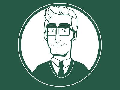Green Gentleman cartoon illustration character design design green glasses man