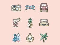 Island Travel Icons