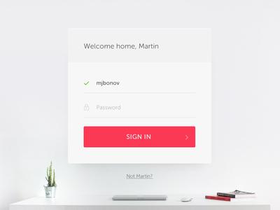 Login form daily100 sign element user interface flat widget form login