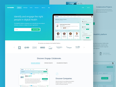 Digital Health Platform report company community platform health digital health web design ux