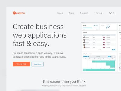 SaaS Homepage Concept saas landing page homepage wysiwyg layout builder web application ibm plex saas software