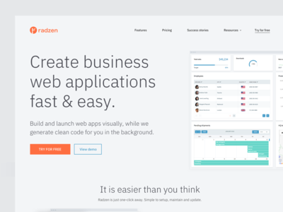 SaaS Homepage Concept