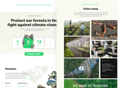 Save the trees donate donation trees forest climate landing page campaign nature environment