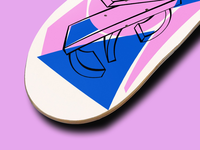 Abstract Skateboard Graphic | close up #2
