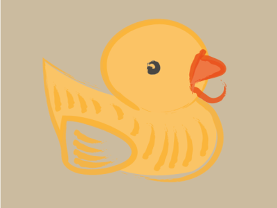 Day1 - Duck 100daychallenge duck vector illustration