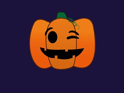 Day 8 - Cheeky Pumpkin pumpkin halloween 100daychallenge design vector illustration
