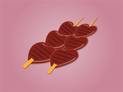 Day 9 - Anticuchos streetfood peruvian food 100daychallenge design vector illustration