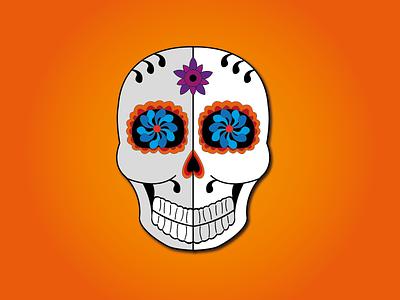 Day 12 - Sugar Skull halloween dayofthedead skull sugarskull 100daychallenge design vector illustration