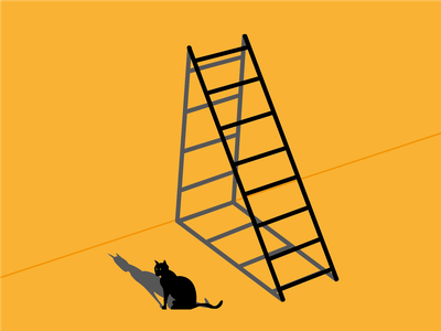 Day 13 - Unlucky for Some perspective unlucky cat 100daychallenge design vector illustration