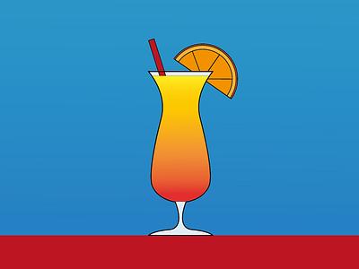 Day 17   Tequila Sunrise tequila sunrise tequila cocktail 100daychallenge design vector illustration