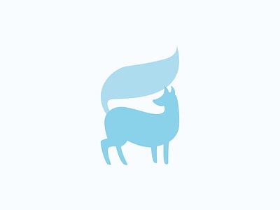 Day 21 - Blue Fox fox logo logo fox 100daychallenge design vector illustration
