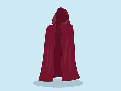 Day 22 - Burgundy Cloak cloak 100daychallenge design vector illustration