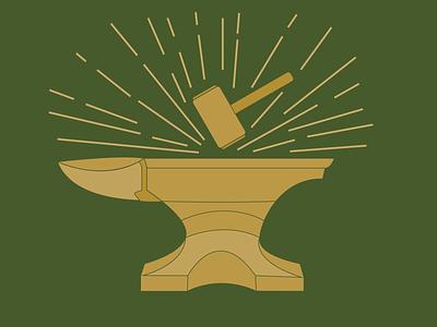 Day 26 - Urmston Anvil hammer anvil 100daychallenge design vector illustration