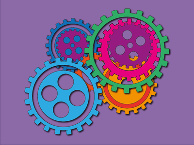 Day 27 - Funky Cogs psychedelic gears cogs 100daychallenge design vector illustration