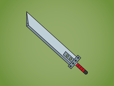 Day 28 - Buster Sword final fantasy buster enamel 100daychallenge design vector illustration sword