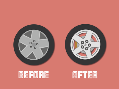 Day 29 - New Rims before and after alloy toyota tyre tyres cars 100daychallenge design vector illustration