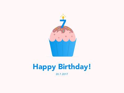 Happy Birthday SignEasy! 7th anniversary esignature signeasy cupcake birthday