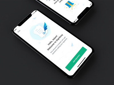 SignEasy - Onboarding design sprint conversion activation easy sign app illustration documents on-boarding e-signature signeasy iphone x