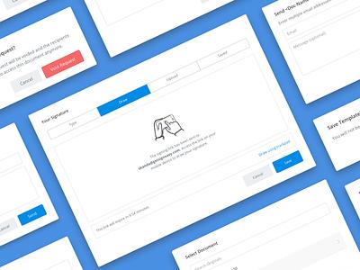 Modal Design Patterns app web design language communication signeasy product styleguide ui modal