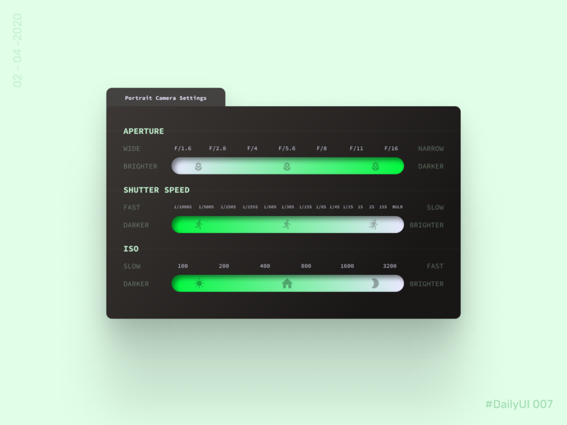 Settings - DailyUI 007