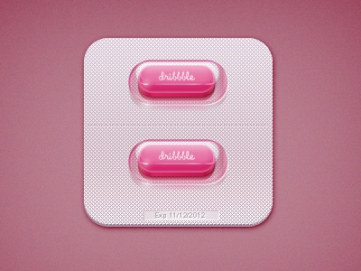 Dribbble Pill icon dribbble pill medicine