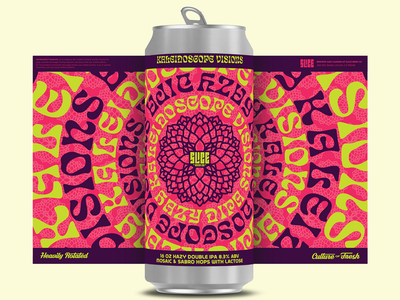 Kaleidoscope Visions branding illustration typography packaging craft beer beer trippy vision kaleidoscope