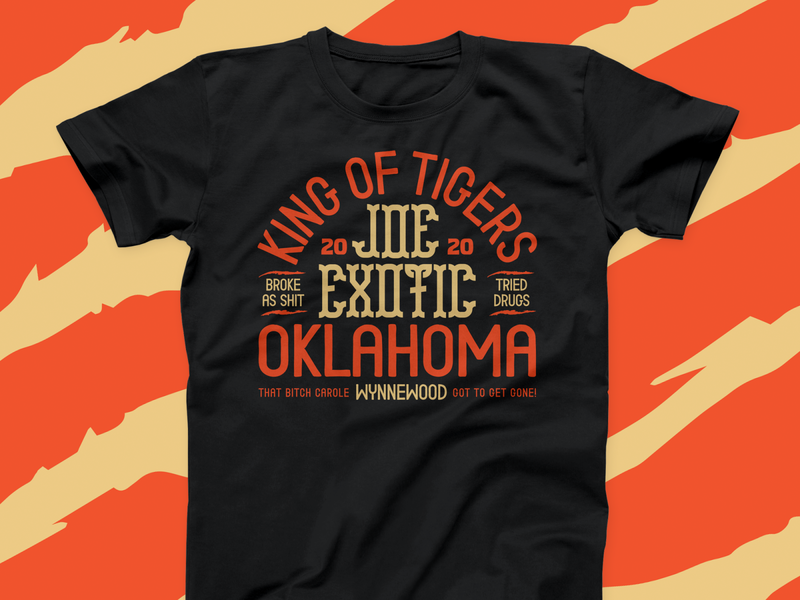 KING OF TIGERS! kittens carole oklahoma branding apparel badge typography