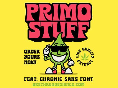 420 Chronic Sans new font sans serif font release font chronic 420 packaging lettering type identity branding illustration typography