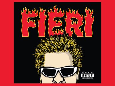 Guy Fieri Graphics Kit flavortown guy fieri fire lettering apparel logo illustration branding typography fieri guy