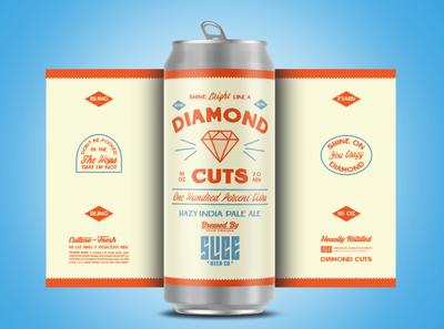 Diamond Cuts type identity branding badge illustration typography