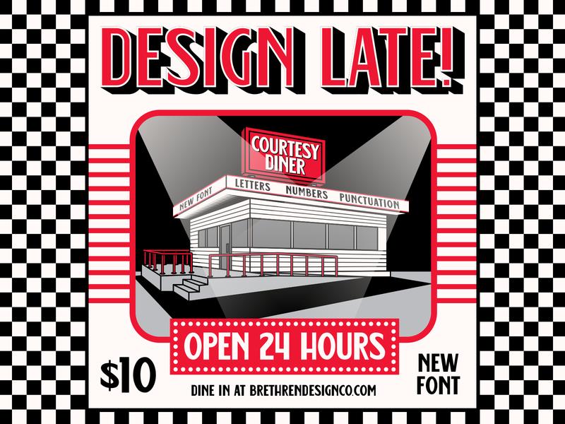 Courtesy Diner Font courtesy food restaurant diner font resources lettering identity apparel type badge logo illustration branding typography