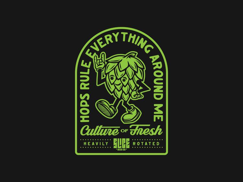 H.R.E.A.M. hoppy hop craft beer apparel packaging beer mark branding badge logo illustration typography